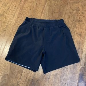"Lululemon Men's Surge Short 6"" Inseam Lined Black"